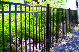 Ornamental Iron Smooth Top 3 Rail